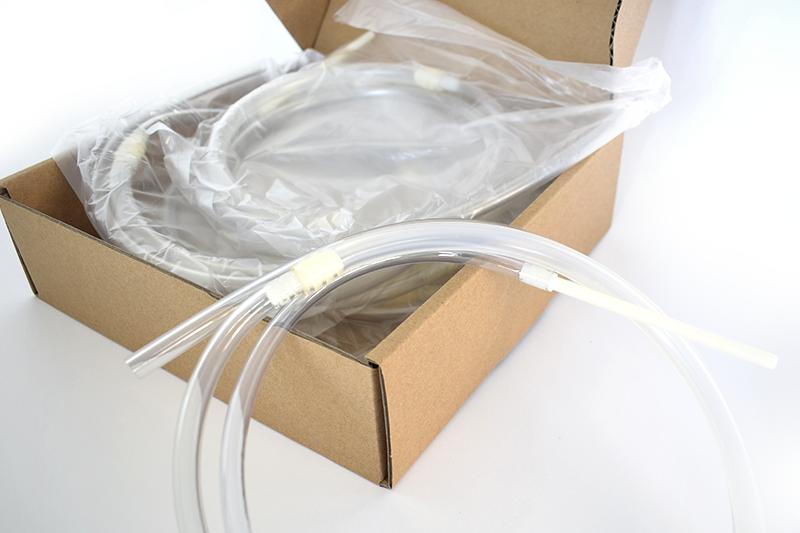 Hygitube tubo de llenado desechable para máquinas de envasado de dosis seminales